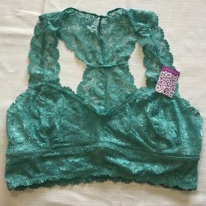 Teal Lace Bralette
